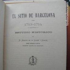 Militaria: 1903 EL SITIO DE BARCELONA 1713-1714 GRANDES LÁMINAS PLEGADAS JOAQUIN DE LA LLAVE. Lote 139395629