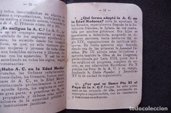 Militaria: (JX-170552) Breve Catecismo de la Accion Catolica , Zaragoza 1937 , Guerra Civil . - Foto 4 - 87221904