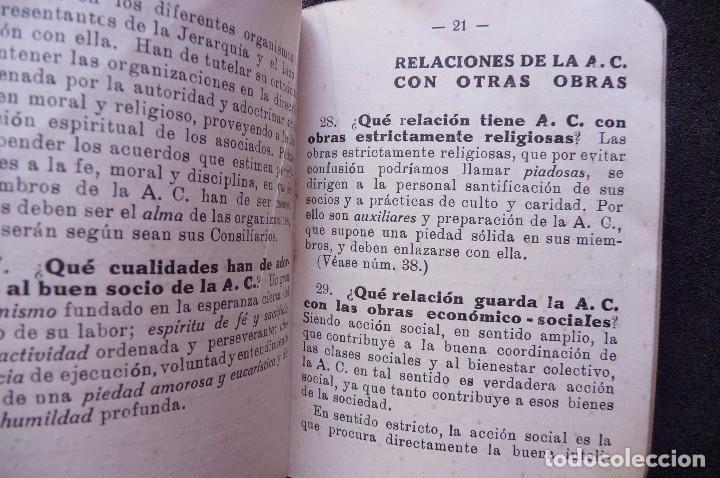 Militaria: (JX-170552) Breve Catecismo de la Accion Catolica , Zaragoza 1937 , Guerra Civil . - Foto 5 - 87221904