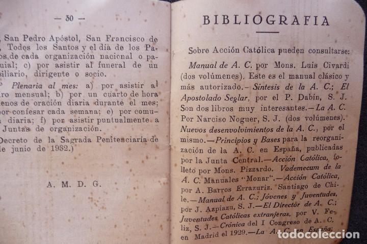 Militaria: (JX-170552) Breve Catecismo de la Accion Catolica , Zaragoza 1937 , Guerra Civil . - Foto 6 - 87221904