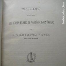 Militaria: 1905 ESTUDIO DE LAS APLICACIONES DEL OBÚS DE POSICIÓN DE 15 CMS CARLOS BARUTELL. Lote 87206204