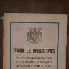 Militaria: DIARIO DE OPERACIONES 1939. Lote 87559408