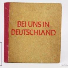 Militaria: LIBRO EN ALEMÁN - BEI UNS IN DEUTSCHLAND. FRIEDRICH HEISS - WWII, GUERRA MUNDIAL / NACISMO -AÑO 1941. Lote 87717292