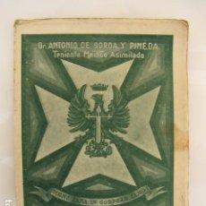 Militaria: CARTILLA HIGIÉNICO SANITARIA DEL SOLDADO. 1.944. SOROA Y PINEDA. Lote 88020588