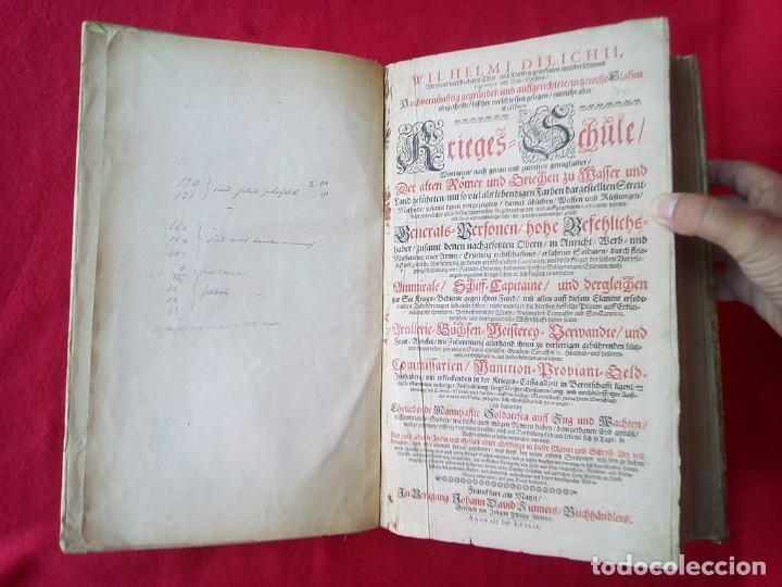 Militaria: 1687- 89 DECENAS DE GRABADOS ALGUNOS PLEGADOS ESCUELA DE GUERRA TRATADO DE ARTILLERIA 35 CMS - Foto 9 - 88132680
