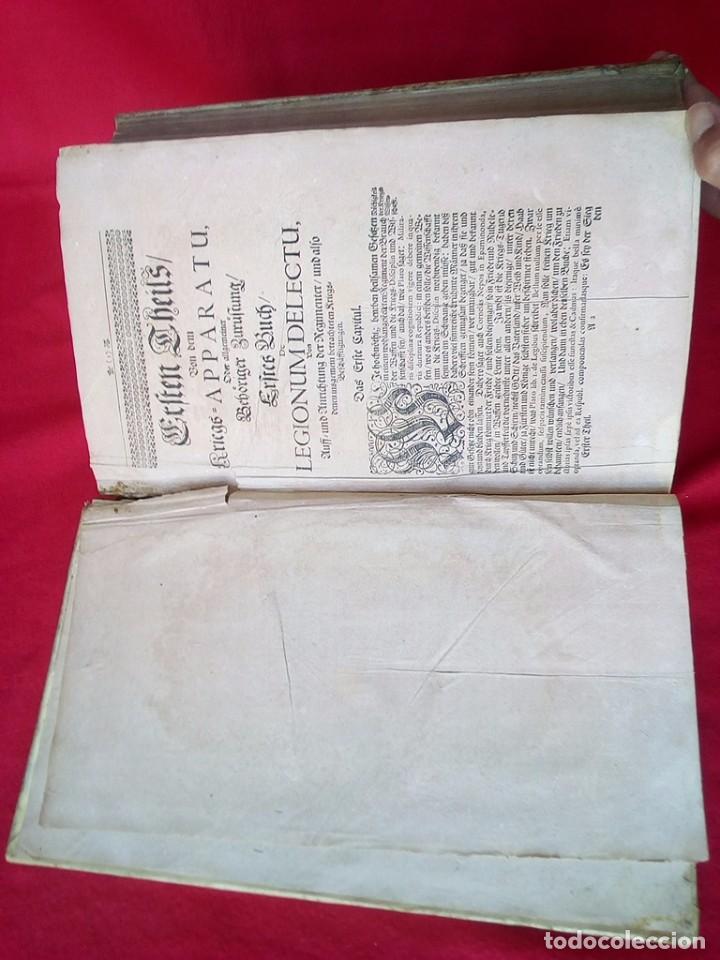 Militaria: 1687- 89 DECENAS DE GRABADOS ALGUNOS PLEGADOS ESCUELA DE GUERRA TRATADO DE ARTILLERIA 35 CMS - Foto 11 - 88132680