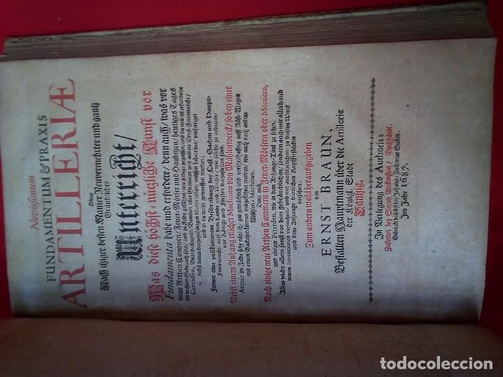 Militaria: 1687- 89 DECENAS DE GRABADOS ALGUNOS PLEGADOS ESCUELA DE GUERRA TRATADO DE ARTILLERIA 35 CMS - Foto 15 - 88132680