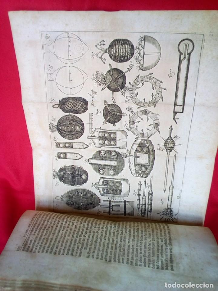 Militaria: 1687- 89 DECENAS DE GRABADOS ALGUNOS PLEGADOS ESCUELA DE GUERRA TRATADO DE ARTILLERIA 35 CMS - Foto 17 - 88132680