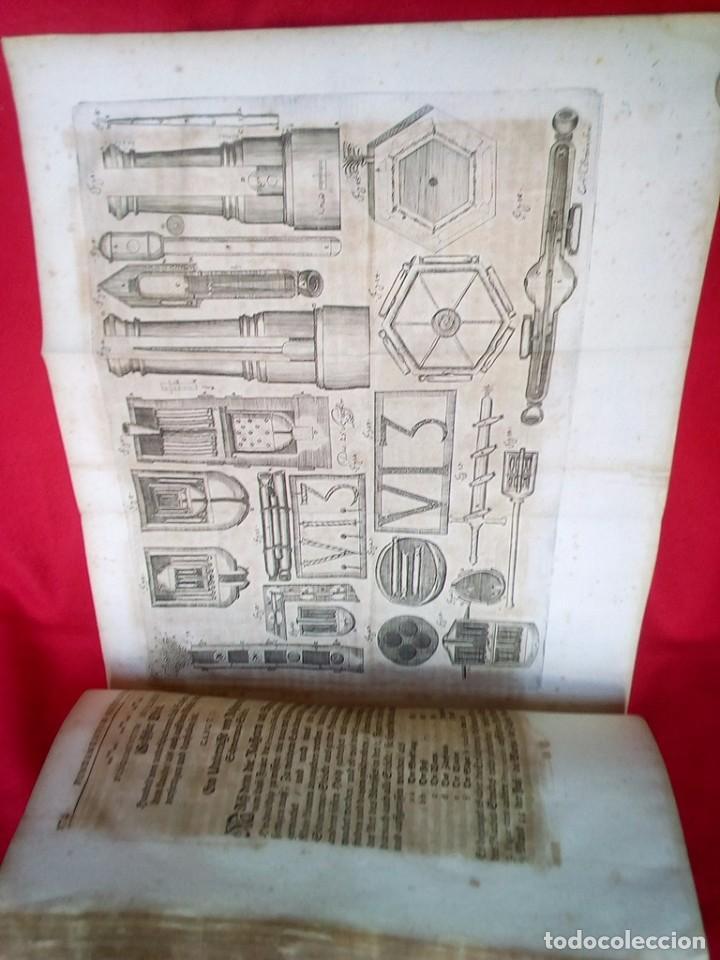 Militaria: 1687- 89 DECENAS DE GRABADOS ALGUNOS PLEGADOS ESCUELA DE GUERRA TRATADO DE ARTILLERIA 35 CMS - Foto 18 - 88132680