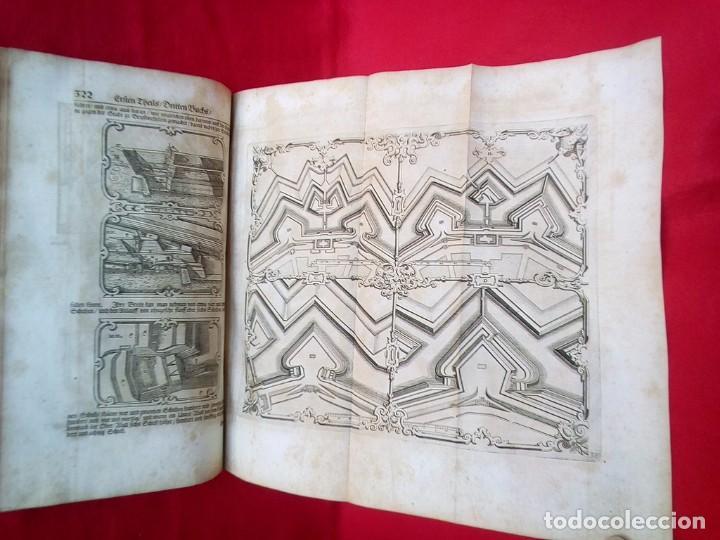 Militaria: 1687- 89 DECENAS DE GRABADOS ALGUNOS PLEGADOS ESCUELA DE GUERRA TRATADO DE ARTILLERIA 35 CMS - Foto 28 - 88132680
