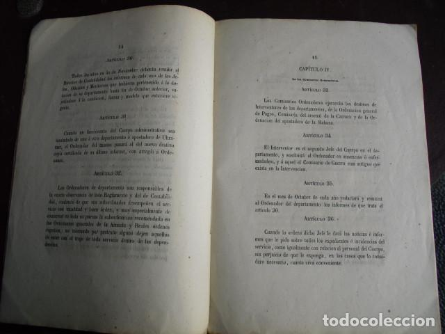 Militaria: 1858 REGLAMENTO ORGÁNICO DEL CUERPO ADMINISTRATIVO DE LA ARMADA - Foto 2 - 88364804