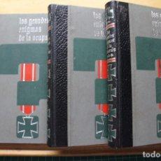 Militaria: LOS GRANDES ENIGMAS DE LA OCUPACIÓN TRES TOMOS. Lote 88653196