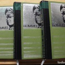 Militaria: ROMMEL TRES TOMOS. Lote 88765608