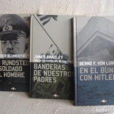 Militaria: EN EL BÚNKER CON HITLER + VON RUNDSTEDT + BANDERAS DE NUESTROS PADRES. Lote 88789724