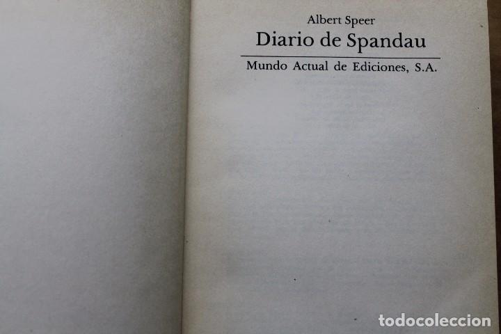 DIARIO DE SPANDAU POR ALBERT SPEER (Militar - Libros y Literatura Militar)