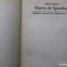 Militaria: DIARIO DE SPANDAU POR ALBERT SPEER. Lote 88790184