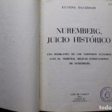 Militaria: NUREMBERG JUICIO HISTORICO. Lote 88974492