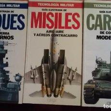 Militaria: TECNOLOGIA MILITAR - GUIA ILUSTRADA - LOTE 3 NUMEROS. Lote 88991152