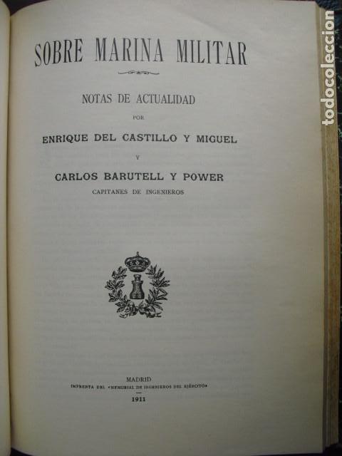 1911 SOBRE MARINA MILITAR CAPITANES DEL CASTILLO Y BARUTELL (Militar - Libros y Literatura Militar)