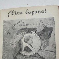 Militaria: LIBRO MILITAR PREPARACIÓN DEL SOLDADO PARA LA GUERRA 1896. Lote 89687539