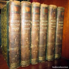 Militaria: ROCQUANCOURT. 1849. CURSO COMPLETO DE ARTE Y DE HISTORIA MILITARES. 6 TOMOS. COMPLETA.. Lote 90103168
