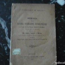 Militaria: MEMORIA HISTORICO MILITARES EN APOYO TROPAS LIGERAS O ESCOGIDAS GUSTAVO NOGUEROL 1884 MADRID. Lote 90342084