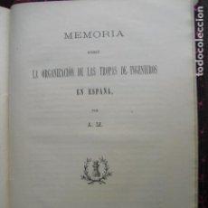 Militaria: 1901 ORGANIZACION DE LAS TROPAS DE INGENIEROS EN ESPAÑA A.M.. Lote 90392476