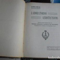 Militaria: 1920 LABORATORIOS AEROTECNICOS ALFREDO KINDELÁN. Lote 90458254