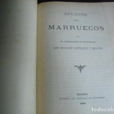 Militaria: 1895 APUNTES SOBRE MARRUECOS E. CAÑIZARES. Lote 90526125