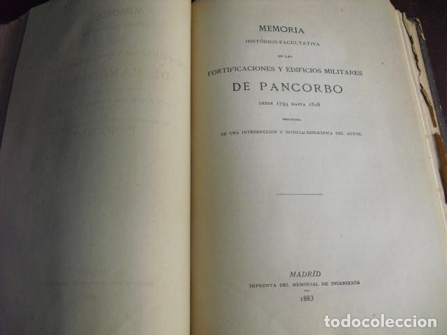 Militaria: 1883 FORTIFICACIONES Y EDIFICIOS MILITARES DE PANCORBO - Foto 2 - 90606640