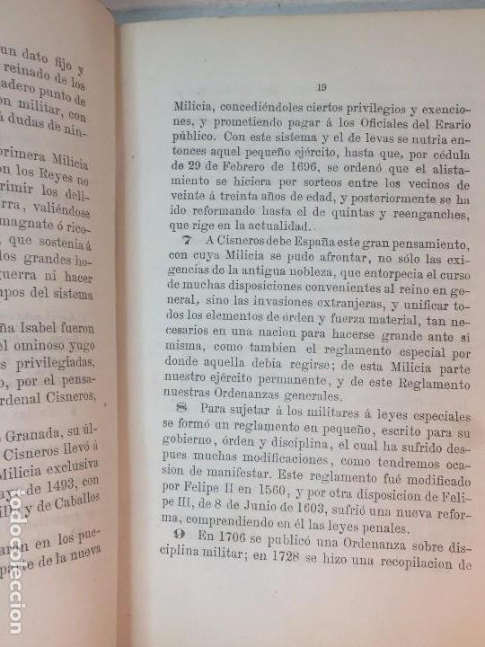 Militaria: Enjuiciamiento Militar Francisco Broncano 1876 leyes legal Madrid 2ª edición. buena conservación - Foto 3 - 90654940