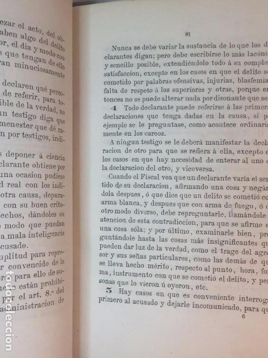 Militaria: Enjuiciamiento Militar Francisco Broncano 1876 leyes legal Madrid 2ª edición. buena conservación - Foto 4 - 90654940