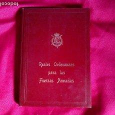 Militaria: REALES ORDENANZAS PARA LAS FUERZAS ARMADAS.CUBIERTA PAN DE ORO. AÑO 1979. Lote 92264770
