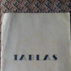Militaria: TABLAS. ZARAGOZA 1951. TABLAS DE CONVERSION DE DATOS, ANGULOS DE TIROS.. Lote 92695220