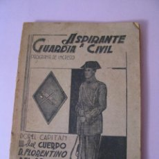Militaria: ASPIRANTE A GUARDIA CIVIL AÑO 1944. CUARTA EDICIÓN.. Lote 93176045