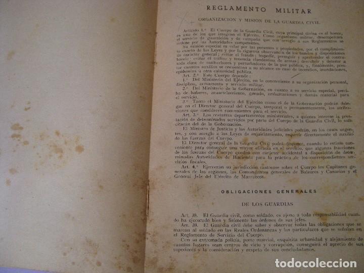 Militaria: ASPIRANTE A GUARDIA CIVIL AÑO 1944. CUARTA EDICIÓN. - Foto 4 - 93176045