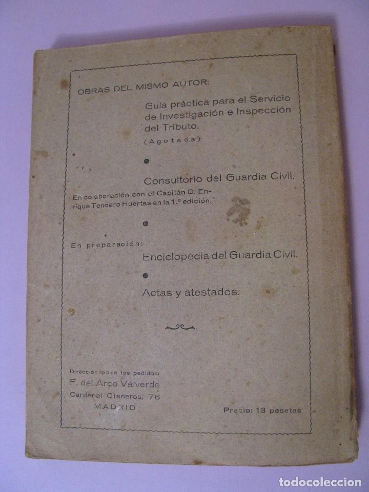 Militaria: ASPIRANTE A GUARDIA CIVIL AÑO 1944. CUARTA EDICIÓN. - Foto 11 - 93176045