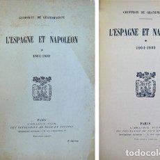 Militaria: GRANDMAISON, GEOFFROY DE (1858-1931). L'ESPAGNE ET NAPOLÉON. I: 1804-1809. 1931.. Lote 93338435