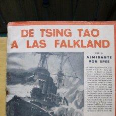 Militaria: DE TSING TAO A LAS FALKLAND DERROTA DE LOS CRUCEROS ALEMANES EN LA I GUERRA MUNDIAL. Lote 95115783