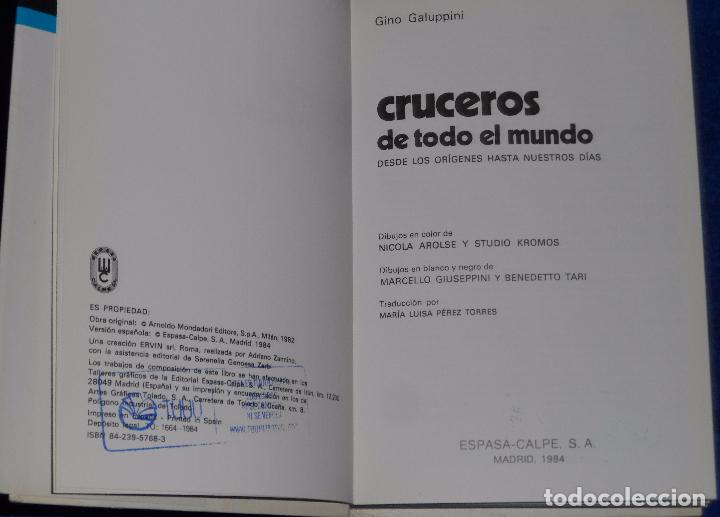 Militaria: Cruceros de todo el mundo - Gino Galuppini - Espasa Calpe (1984) - Foto 2 - 95321819