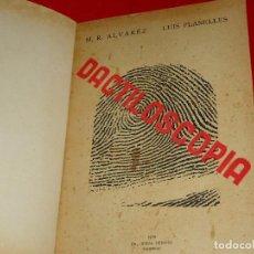 Militaria: CURIOSO LIBRO DE DACTILOSCOPIA 1936. Lote 95411603