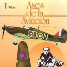 Militaria: ASES DE LA AVIACION. 12 NUMEROS. COMPLETA. EDITORIAL DELTA. AÑO 1984. Lote 95799015