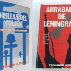 Militaria: DIVISION AZUL, ORILLAS DEL VOLJOV Y ARRABALES DE LENINGRADO (1967, 1971) PRIMERA EDICION, 2 TOMOS. P. Lote 96294351