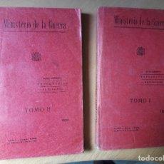 Militaria: REGLAMENTO PARA EL SERVICIO TOPOGRAFICO ARTILLERO- DOS TOMOS 1933. Lote 96685327