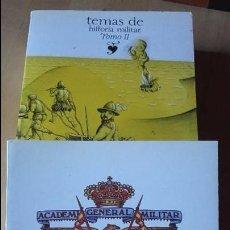 Militaria: TEMAS DE HISTORIA MILITAR. 2 TOMOS. COMPLETO. ACADEMIA GENERAL MILITAR, 1986). Lote 96862699