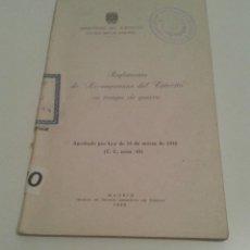 Militaria: 516 - REGLAMENTO DE RECOMPENSAS DEL EJERCITO EN TIEMPOS DE GUERRA 1958. Lote 96884955