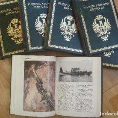 Militaria: FUERZAS ARMADAS ESPAÑOLAS. DE RICARDO DE LA CIERVA. 1 ª EDICION 198 .. 8 TOMOS DE LUJO. Lote 96898323