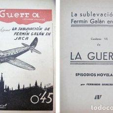 Militaria: CISNEROS, FERNANDO. LA GUERRA. EL MOVIMIENTO LIBERTADOR DE ESPAÑA EN EPISODIOS NOVELADOS... (1938).. Lote 97036079