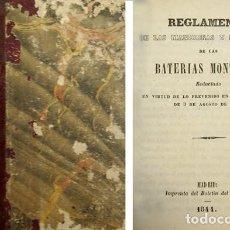Militaria: REGLAMENTO DE LAS MANIOBRAS Y EVOLUCIONES DE LAS BATERÍAS MONTADAS. REDACTADO EN VIRTUD DE... 1844.. Lote 97041803