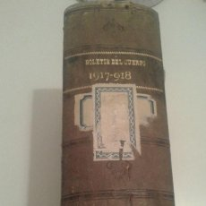 Militaria: 529 - BOLETIN DE INTENDENCIA E INTERVENCIONES QUINTA EPOCA TOMO VI 1917 - 1918. Lote 97257563